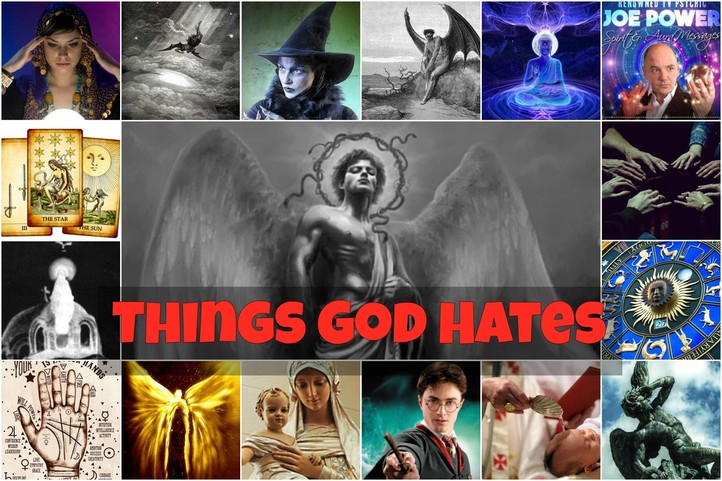 Image result for God hates familiar spirits